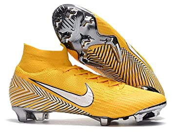 8ac29747d097 High Ankle Men s Mercurial Superfly VI 360 Elite FG Soccer Cleats Yellow  (8.5 ...