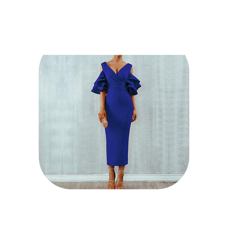 bluee Summer Women Club Dresss Celebrity Party Dress Yellow Red Ruffle Butterfly Short Sleeve Dress