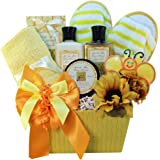 Queen Bee Gourmet Cookie and Honey Spa Bath and Body Gift Basket Set