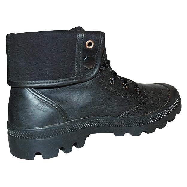 CultP Damen Herren Unisex Baggy Boots Stiefel Trend Schuhe Outdoor Shoe 36-45 (41, Schwarz)
