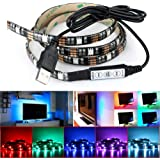 DeepDream LED Strip TV Backlight Bias Lighting 4.9ft 5050 45Leds 5V USB Powered Mini Controller for HDTV, Flat Screen TV Accessories and Desktop PC, Multi Color