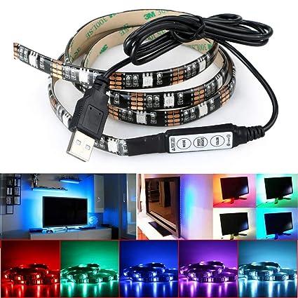 Amazon deepdream led strip lights tv backlight 49ft 5050 deepdream led strip lights tv backlight 49ft 5050 45leds 5v usb powered mini controller for aloadofball Images
