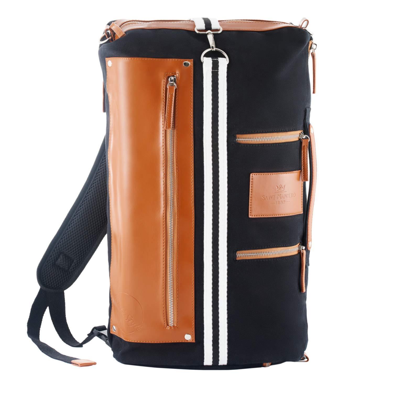 Saint Maniero Men Backpack Women Backpack Laptop Bag School Bag[Black] by Saint Maniero