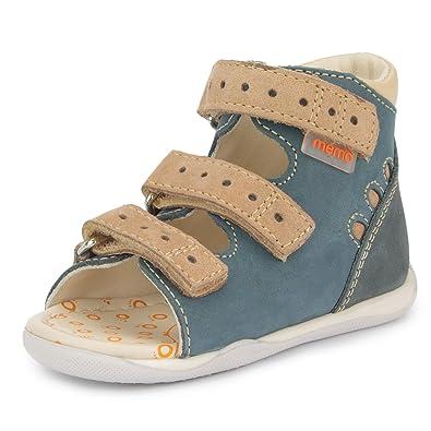 35f0a26c58 Memo Dino 1DA Boys First Walker Toddler Orthopedic Suede Anti-Slip Sandal,  18 (