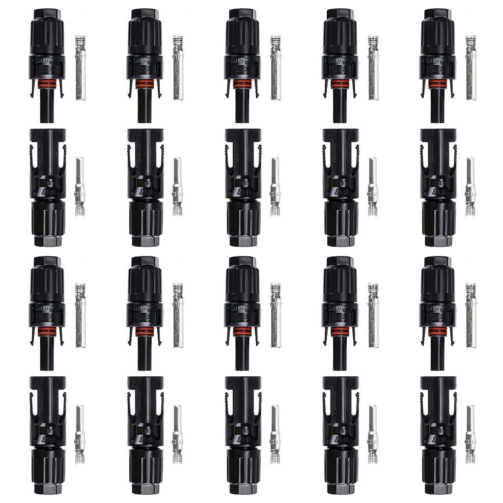 10 Pairs of HC4-PV10C HC4-PV10C MC4 Male/Female Solar Panel Cable Connectors Md trade