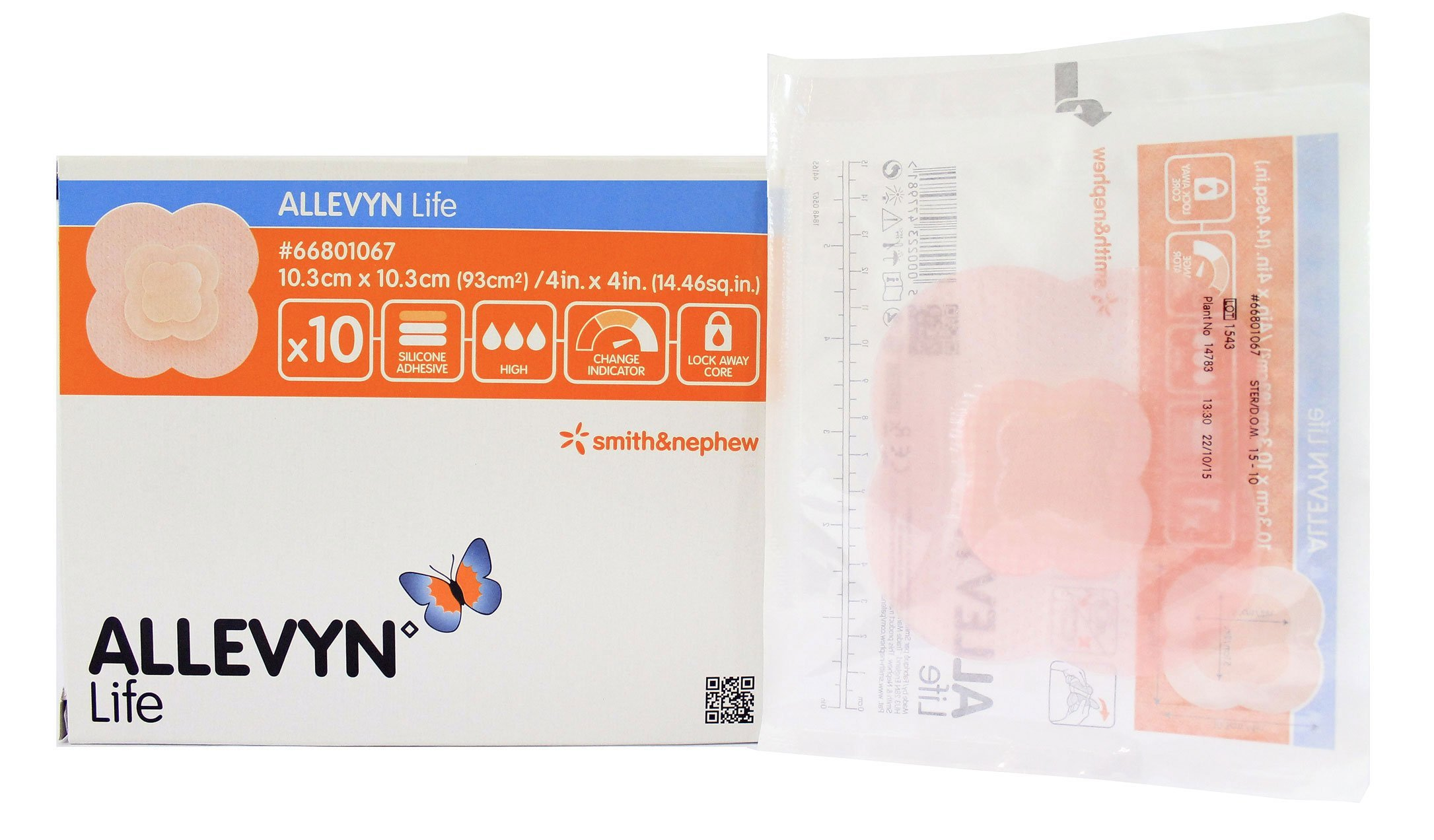 Smith & Nephew Foam Dressing Allevyn Life 4 X 4'' Quadrilobe Sterile (#66801067, Sold Per Box)