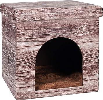 Flamingo Chalet Casita para gatos 38 x 38 x 37 cm: Amazon.es: Productos para mascotas