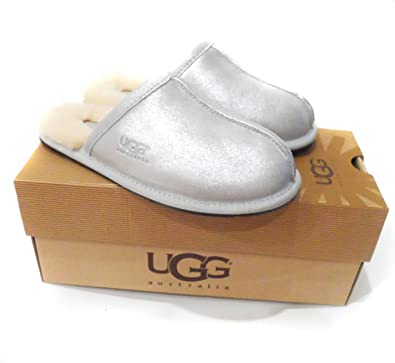 New Genuine UGG Womens Sparkly Slippers Leather Shearling - 1007063 PEARLE  (Womens UK 3.5 a1229c97a