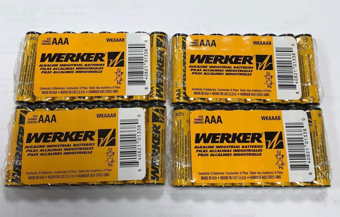 Industrial Alkaline WERKER - 32 Batteries AAA Batteries WKAAAB
