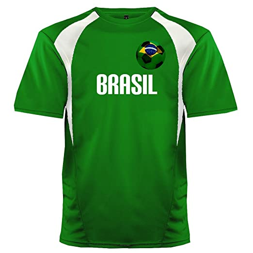 6bd74ac112a Custom Brazil Soccer Ball 1 Jersey Adult 2X-Large in Kelly Green and White