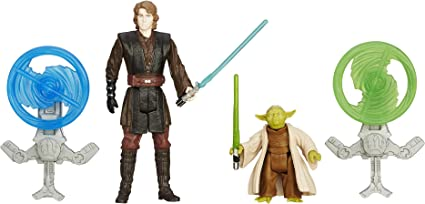 Amazon Com Star Wars Revenge Of The Sith 3 75 Inch Figure 2 Pack Forest Mission Anakin Skywalker And Yoda Toys Games