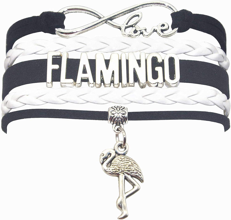 HHHbeauty Flamingo Bracelet Jewelry Leather Infinity Love Flamingo Gifts Flamingo Jewelry Bracelet Gifts for Women, Girls, Men, Boys, Gifts Flamingo