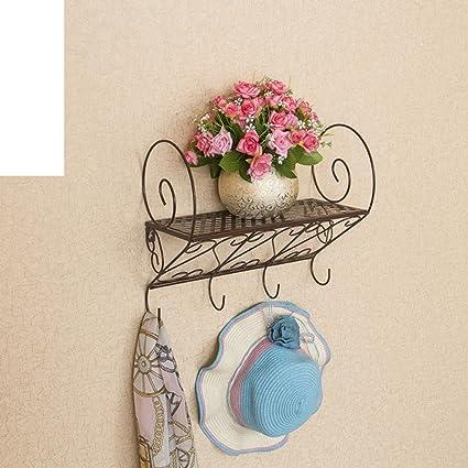 Jardín forja pared/Estante/baño/cocina/Perchero/repisa/flor ...