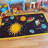 """Prodotto da bambino, motivo sistema solare, gioco educativo, 100 cm x 200 cm (3"""") """"x 3"""" circa) 6"""