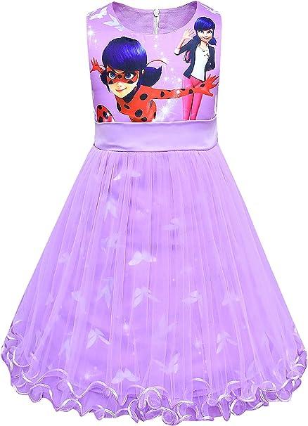 New front Disfraz de Ladybug Niña Mariquita Princesa Vestido de ...
