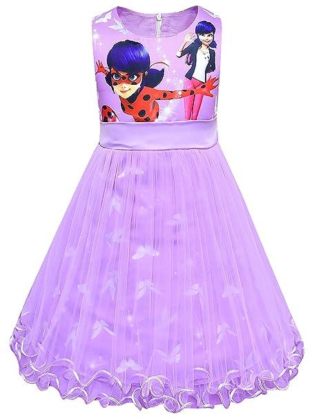 New front Disfraz de Ladybug Niña Mariquita Princesa Vestido ...