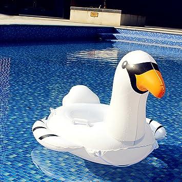 Asenart ® bebé inflable nadar barco flotador anillo Floatie montar en Rideable soplar verano divertido piscina juguete flotador jerga para niños (Grúa ...