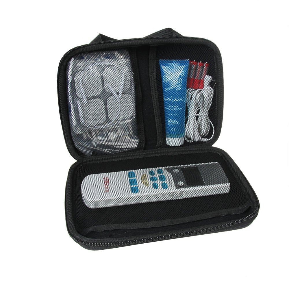 Hard EVA Protective Travel Case Carrying for Santamedical LFM-110 Electronic Tens Unit Handheld Pulse Massager by Hermitshell by Hermitshell (Image #2)