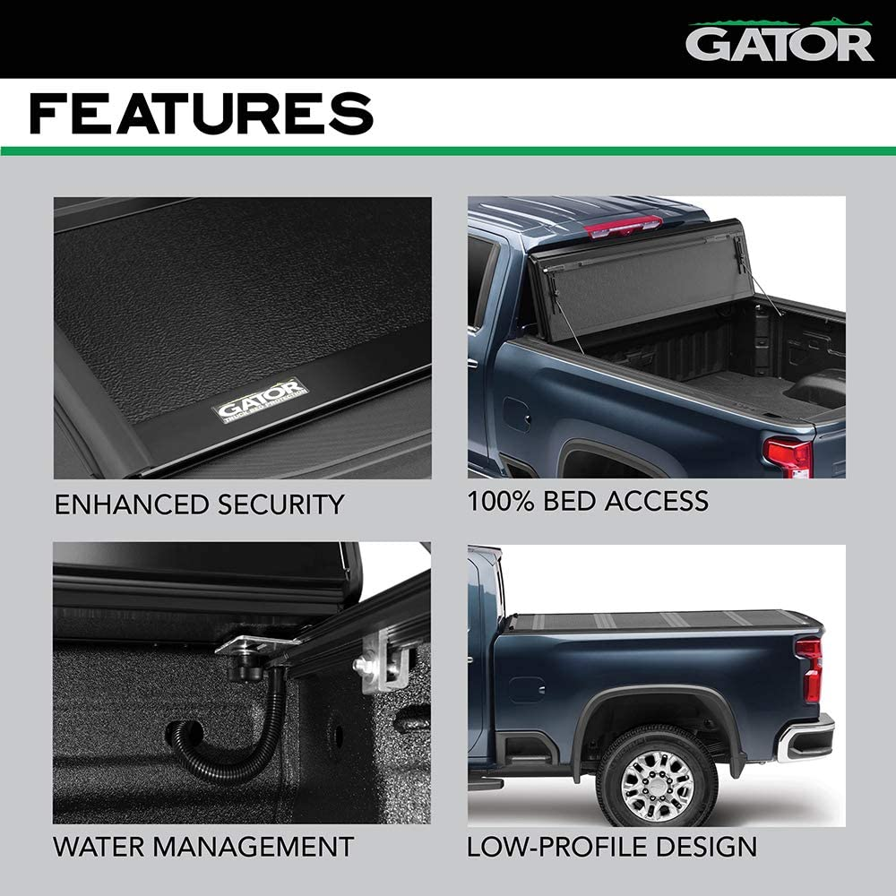 Fits 2019-2020 6 Bed Gator FX Hard Quad-Fold Truck Bed Tonneau Cover 8828333 Made in the USA