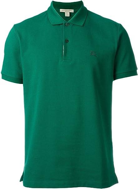 Burberry Brit 3929358 Camisa polo Verde Aqua Green Hombre: Amazon ...