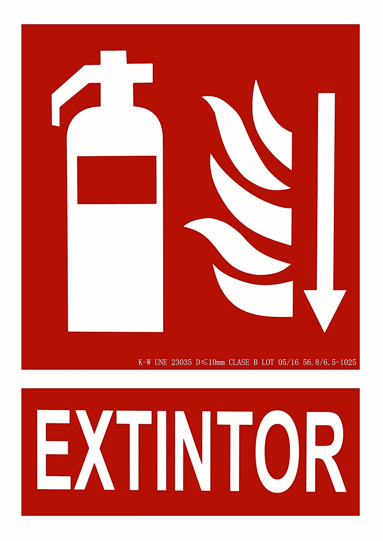CIEFU-Cartel de Extintor con flecha Señalizacion ...