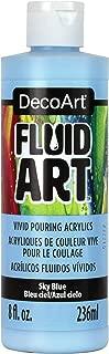 product image for Deco Art DecoArt FluidArt Ready-To-Pour Acrylic Paint 8oz-Sky Blue