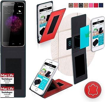 reboon Funda para Maxwest Nitro 55 LTE | in Rojo Cuero | Carcasa Multifuncional Case Cover: Amazon.es: Electrónica