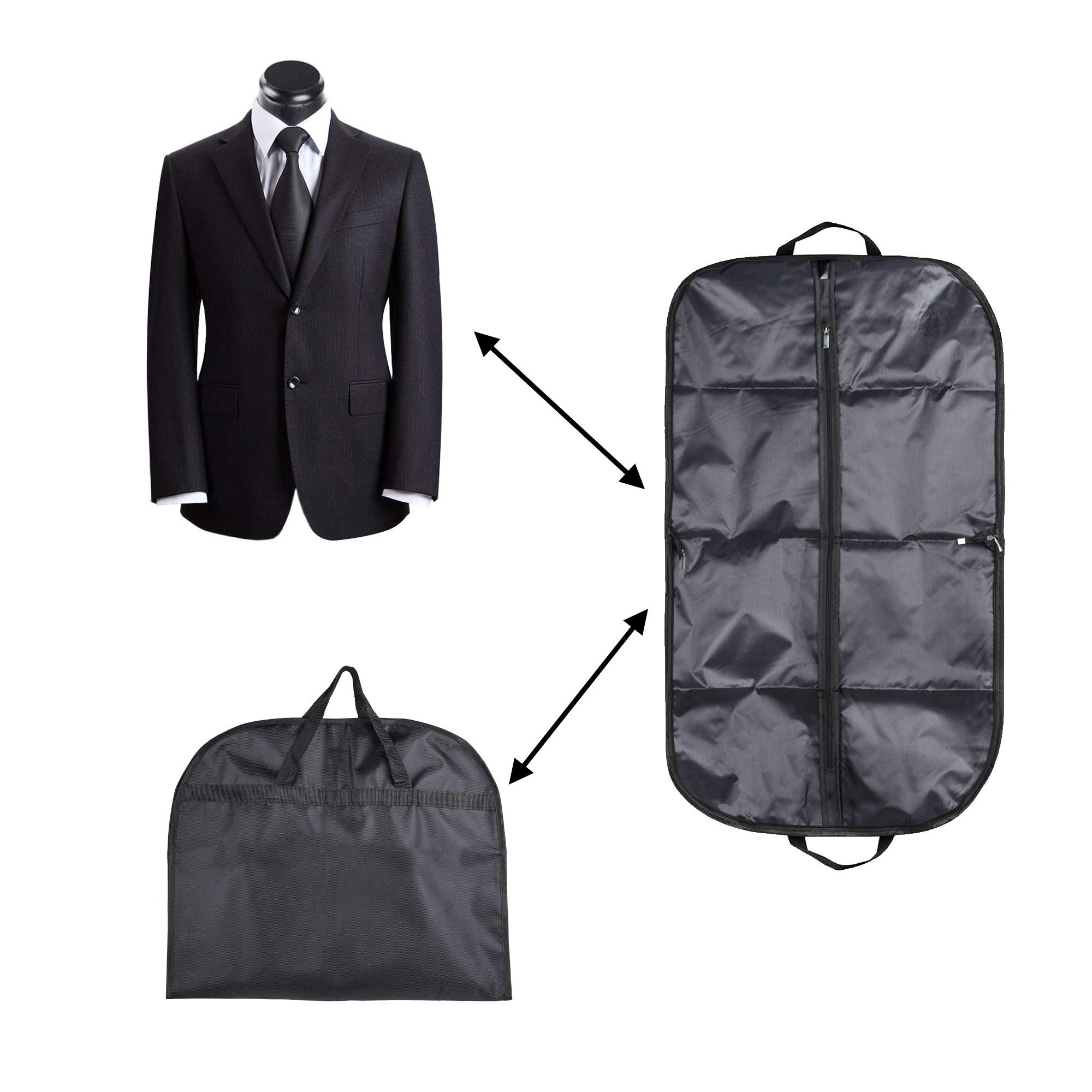 COSMOS Suit & Dress Travel Storage Garment Bag Carry Bag with Handles, 39 x 23 inches by CM (Image #2)