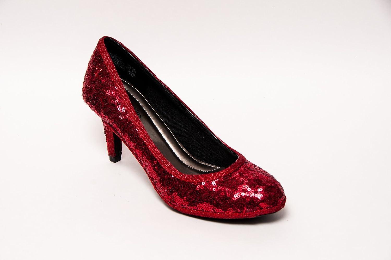 558e9076fbc59 Amazon.com: Princess Pumps Starlight Red Sequin Heels: Handmade