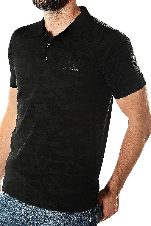 Emporio Armani EA7 - Polo Camuflaje Color Negro (XL): Amazon.es ...