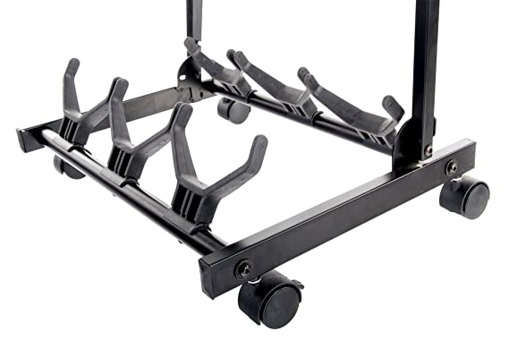 Amazon.com: Rocktile Triple Multi Guitar Stand With Wheels For Electric And Acoustic Guitars: Musical Instruments
