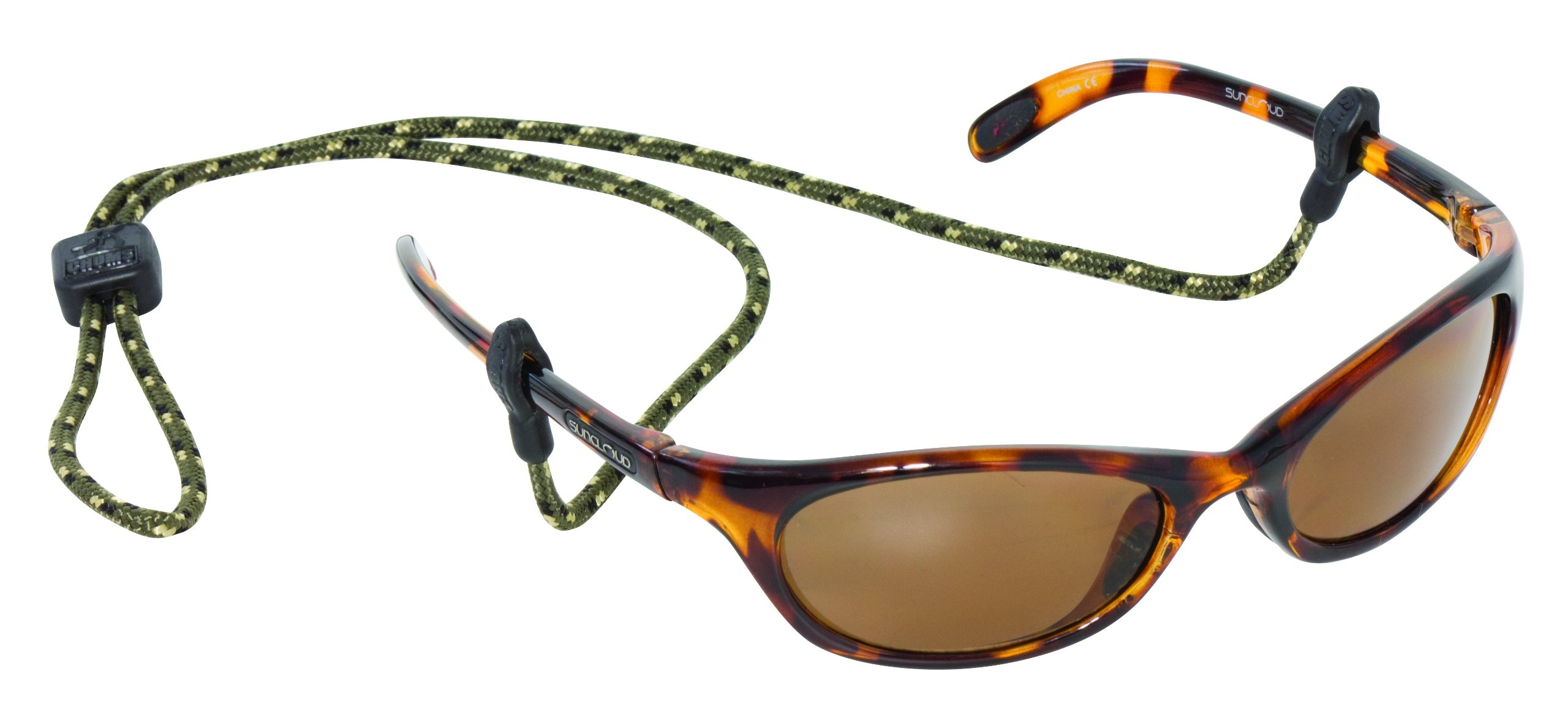 Chums Slip Fit 3mm Rope Eyewear Retainer, Olive/Gold/Black by Chums
