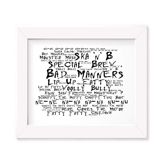 Bad Manners Poster Print - Ska N B - Letra firmada regalo arte cartel: Amazon.es: Hogar