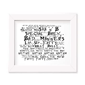 Bad Manners Poster Print - Ska N B - Letra firmada regalo arte cartel
