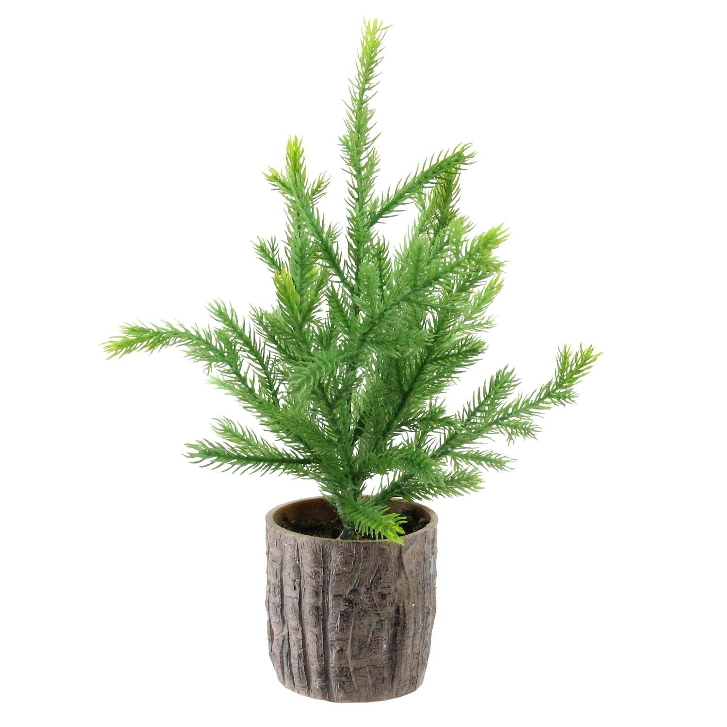Northlight NL00065 Artificial Pine Christmas Tree in Wooden Pot, 12''