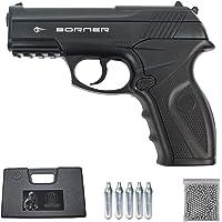 Borner C11 | Pack Pistola de balines (perdigones Bolas de Acero BB's). Arma de Aire comprimido CO2 Calibre 4,5mm [3…