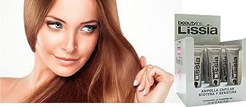 LISSIA-Keratina y Biotina Ampolla (BOX 12PCS). Ayuda a recuperar el cabello