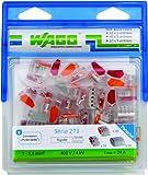 Wago WAG273/PAN50 Pack de 50 bornes 273 10 x 2 entrées + 30 x 3 entrées + 10 x 5 entrées