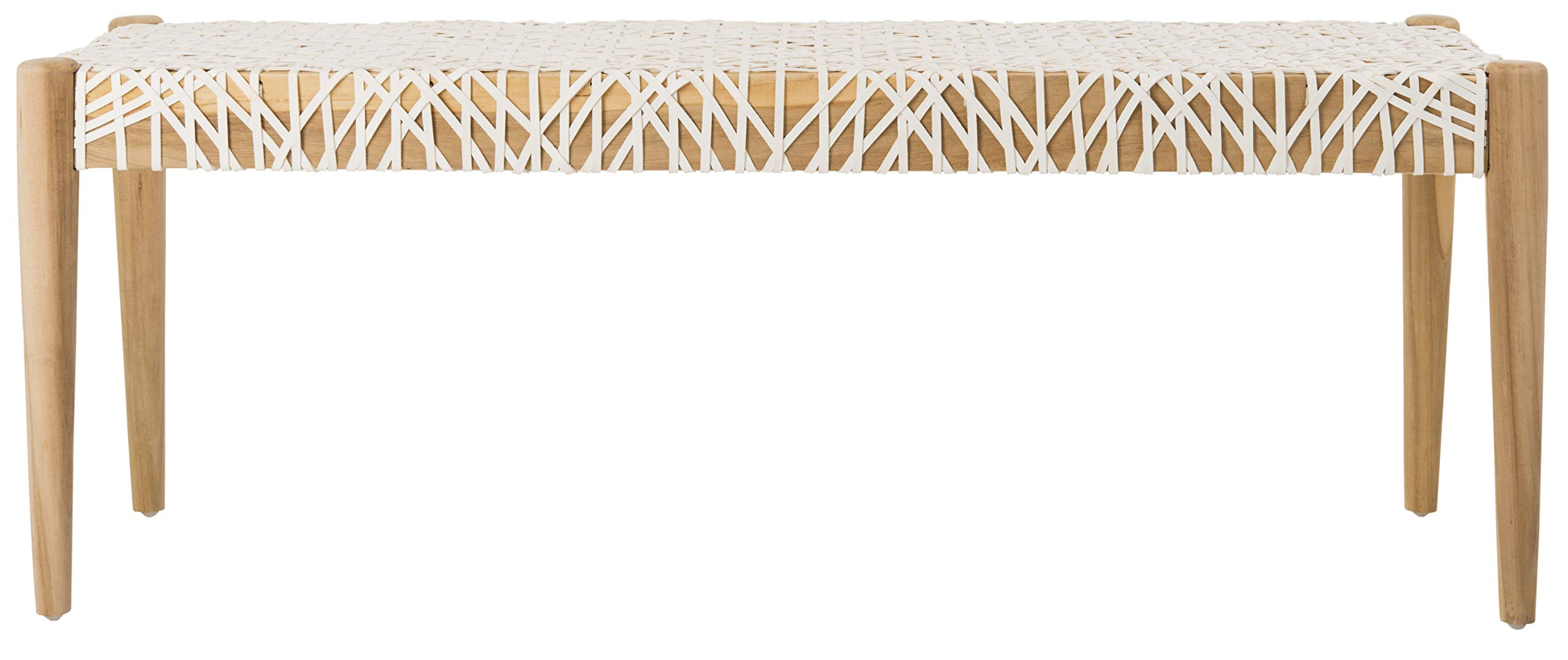 Safavieh BCH1000A Home Collection Bandelier Bench, Off- Off-White/Natural by Safavieh (Image #4)