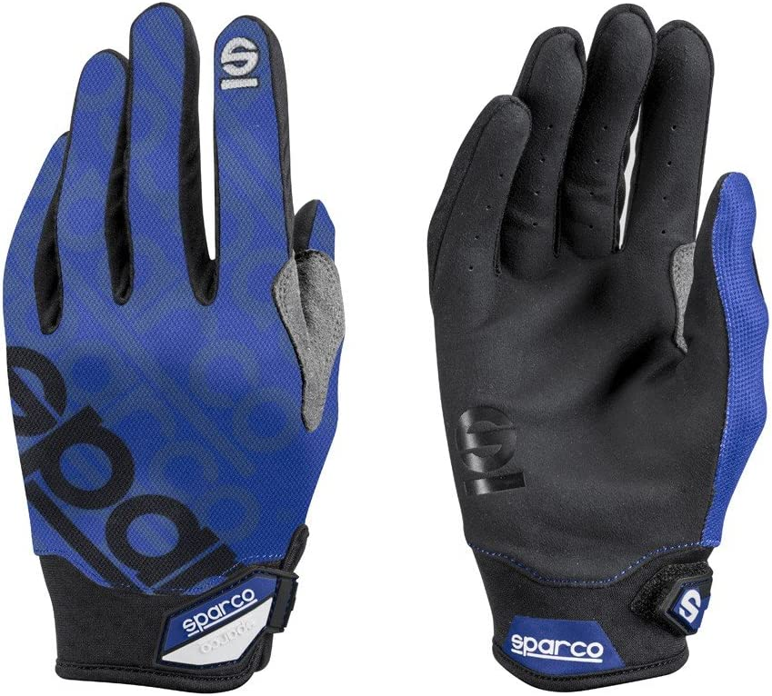Sparco Meca 3 Mechanics Glove 002093 (Size: Large, Blue)
