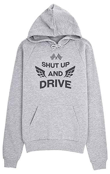 690b63851551e Shut Up And Drive Cool Car Rally Elements Design Mujeres Sudadera con  Capucha XX-Large  Amazon.es  Ropa y accesorios
