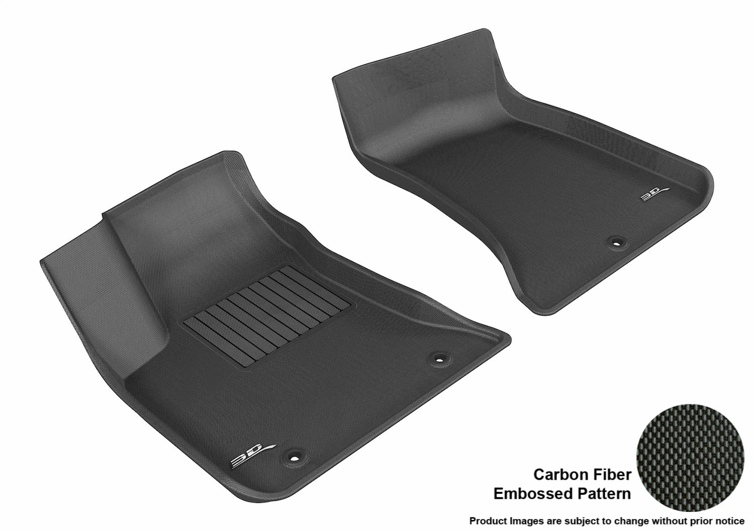 Black 3D MAXpider Complete Set Custom Fit All-Weather Floor Mat for Select Dodge Charger Models L1DG01401509 Kagu Rubber