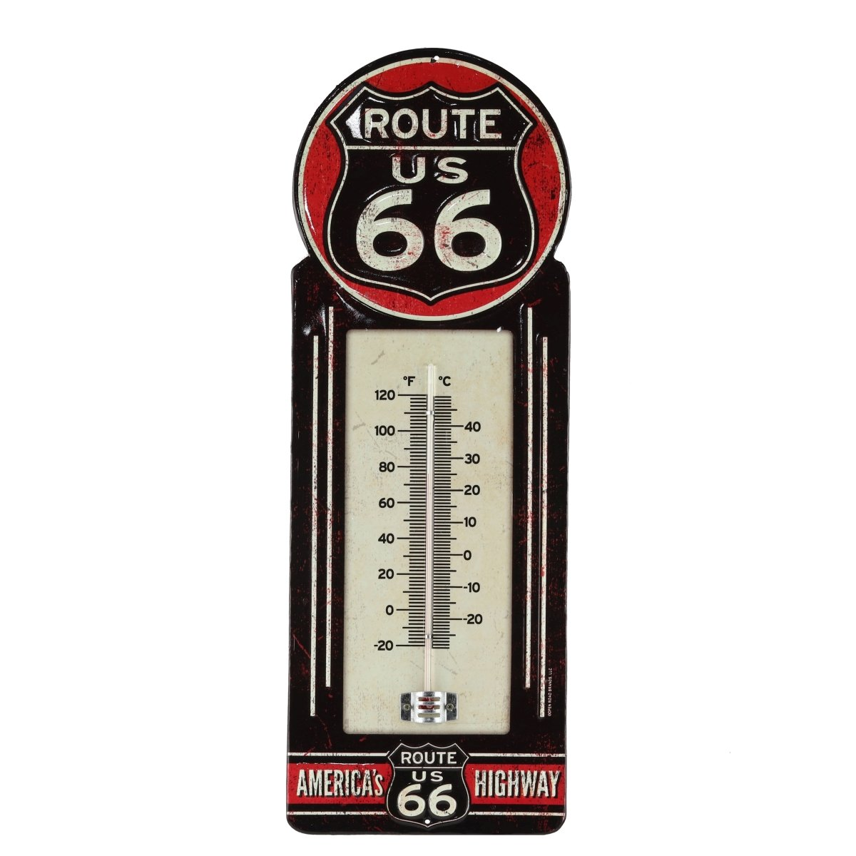 Open Road Brands Route 66 Metal Thermometer