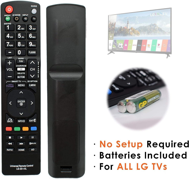 Connected Essentials - Mando a distancia para LG Smart TV original, uso instantáneo, no requiere configuración, pilas incluidas: Amazon.es: Electrónica