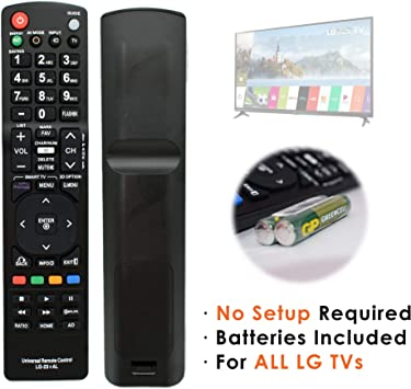 Connected Essentials - Mando a distancia para LG Smart TV original, uso instantáneo, no requiere configuración, pilas incluidas: Amazon.es: Electrónica