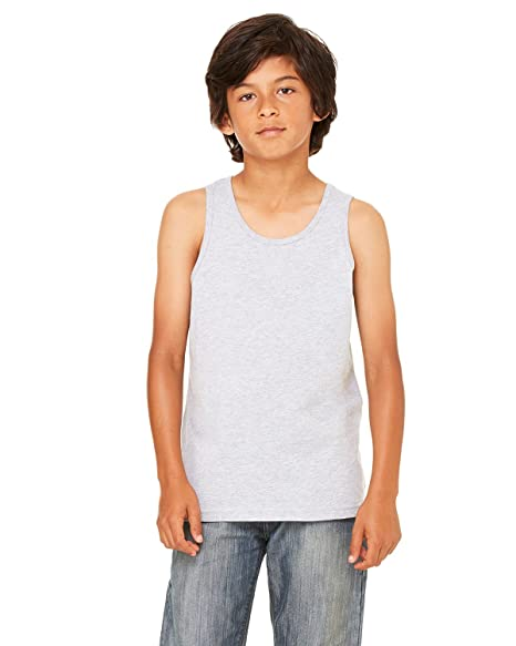 Bella + Canvas Youth Jersey Tank, Small, ATHLETIC HEATHER