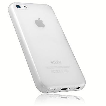 mumbi Schutzhülle für iPhone 5c Hülle transparent weiss
