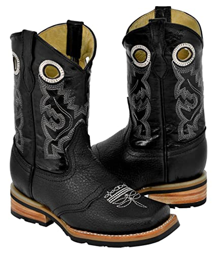 aa16b50f004 Amazon.com | Veretta Boots - Kids Toddler Black 2 Work Style Leather ...