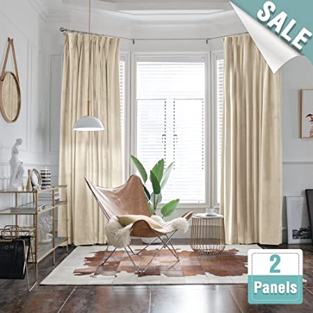 Luxury Velvet Curtains For Living Room 84 Inch Length Darkening Curtain Panels Bedroom Thermal Insulated Window 2
