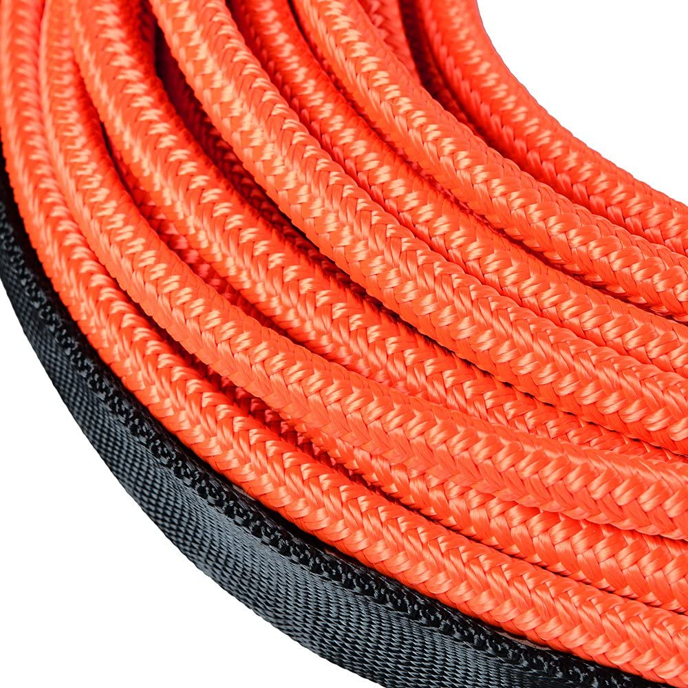 Astra Depot 50 x 1//4 7000lbs Blue Synthetic Winch Rope Rock Guard Heat Guard for ATV UTV Jeep 4x4 Car Truck Protective Sleeve